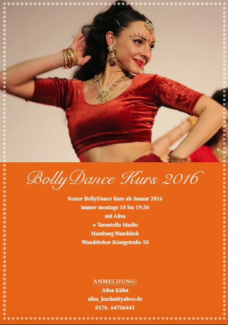 Flyer Bollydance Mittwoch Alisa